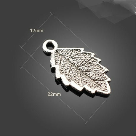 Free shipping tree leaf jewelry charms bead 300pcs/lot(Hong Kong)
