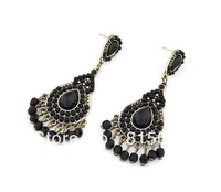 2013 Jewelry wholesale fashion beautiful tide exaggeration tassel ear drop earrings, Free shipping!