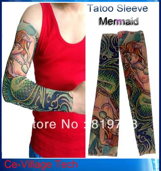 2013 New Radiation Protection Tattoo Sleeves  / Leg Sleeves / Riding Fishing Skiing Cuff  Personal Arm Tattoo Sleeve - Mermaid