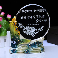 Gift crystal ceramic carving quality wedding gift marriage souvenir to send the teacher(China (Mainland))