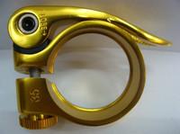 -Bicycle mountain bike Universal CNC QD seatpost quick release lock u0004 GOLD  COLOR