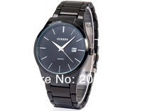 NEW CURREN 8106 Men's Tungsten Steel Analog Quartz Watch(Black)Calendar watch.wristwatches+free shipping
