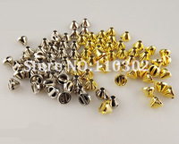 Promoting!500 pcs/lot ABS 8MM Silver Gold Rivet Spots Rivet Spike Stud Punk Leather craft DIY Free Shipping hand sewing