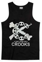 Hot Sale Crooks and Castles Vest Crooks Tank Top Men Hip Hop Singlet Sleeveless Upper Garment Wholesale Cotton Apparel