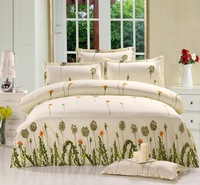 Promotion !! Free shipping flower Print Bed Sheets3PCS Bedding Set duvet set bedding