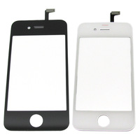 Free Shipping by DHL EMS UPS , 20PCS/LOT, black Digitizer Glass Touch Screen Panel Replacement For iPhone 4s