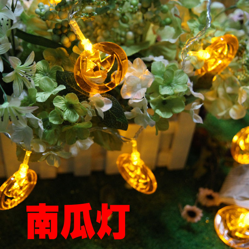 Christmas lights string decoration toy decoration night light 10 pumpkin led battery lighting string(China (Mainland))