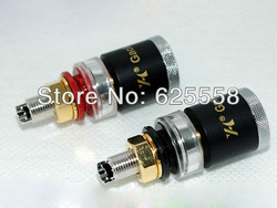 4pcs Pure Copper Rhodium Plated Amplifier Speaker Terminal Binding Post HI-END(China (Mainland))