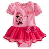 2013 Newest The the exclusive lovely DISENY Minnie hearts veil short-sleeved Romper,Size 80-90-100,Free Shipping