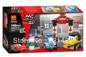 Cartoon Cars Tokyo maintenance station Bela 10010 146pcs building blocks 3D DIY educational toys birthday gift Free Shipping