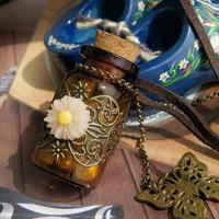 Vintage Wishing Bottle Necklaces Fairy Dust Bottles  make a wish necklace  glass vials make a wish