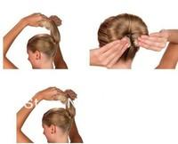 free shipping cost! 9boxes/lot,HOT BUNS 1box= 1 large 1 small, hair style bun maker,Hairdisk,zongya li