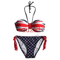 on sale 3pcs free shipping Women Sexy bikini  swimsuit swimwear United Kingdom flag UK flag and UK flag tube swim wear