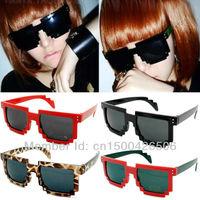 Free Shipping! Hot Fashion New Goggles Fashion Women Lady Lattice Style Wayfarer Multicolored UV400 Sunglasses 120-0013