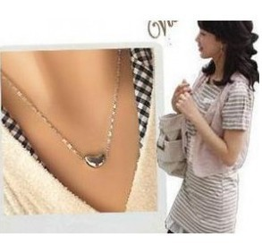 NE-0177 Fashion Jewelry Sliver Alloy Beans Necklace(Packaged for sale)(China (Mainland))