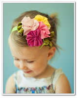 Fashion baby flower hair band little princess elegant 100% cotton wigs 3b-43