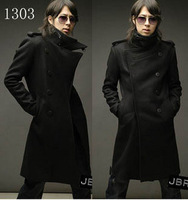 2013 winter thickening version of vintage double breasted long trench design a607 x110  free shipping