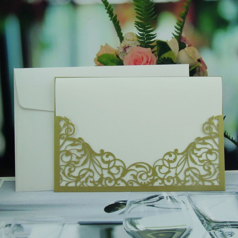 fancy wedding invitation card with envelope 2013(China (Mainland))
