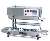 SF-150 Vertical plastic bag/film heat sealing machine,continuous band sealer