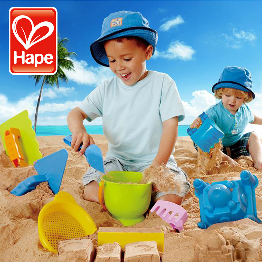 Child day gift hape beach toy small set classic 9 piece set child sand(China (Mainland))