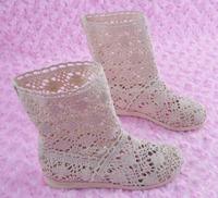 Summer children's boots knitted net boots girls shoes