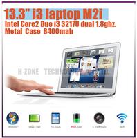Freeshipping 2013 new ultra laptop Full Aluminium Alloy  i3 3217U dual 1.8ghz 2G RAM 64G SSD WIFI Bluetooth HDMI WIN 7 8400mah