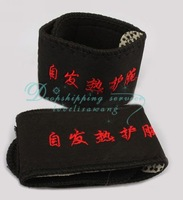 DHL shipping Wholesale Self-heating Braces Therapy Wrist Brace Spontaneous Heating Magnetic Belts 2 Pcs