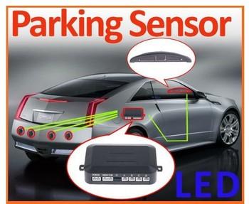 Car LED Parking Reverse Backup Radar System with Backlight Display+4 Sensors 6 colors best Wholesale