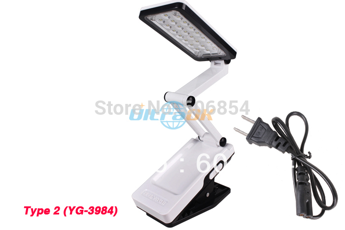 Adjustable Folding Rechargeable Energy-Saving SMD LED Table Desk Lamp Light for Reading(China (Mainland))