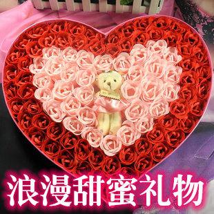 Chocolate soap flower gift box birthday present for girlfriend gifts girls novelty romantic