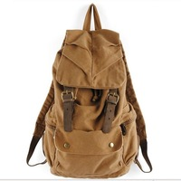 HOT Sale New Fashion Men's Clutch  Shoulder Canvas Bag Travel Backpack