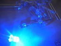 Free Shipping 1000pcs X 3MM Blue LED diffused Super Bright