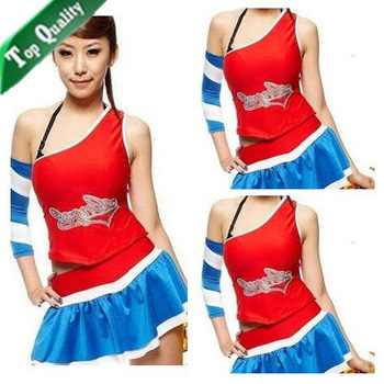 Free Shipping 2013 new fashion Sexy football baby clothing sleeveless student performance apparel gymnastics suit hot Wholesale