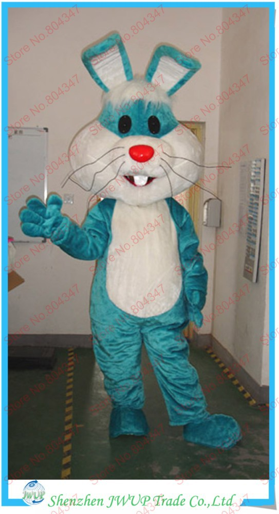Newest Rabbit Costume Mascot Head Moving Cartoon Costumes Sales Promotion Mascot Costume Free Shipping(China (Mainland))
