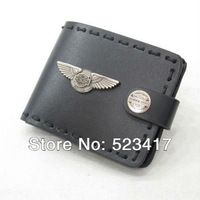 Free shipping Trendy rocket hand-made leather eagle wallets Cool   punk  leather wallets stylish wholesale cowboy wallets