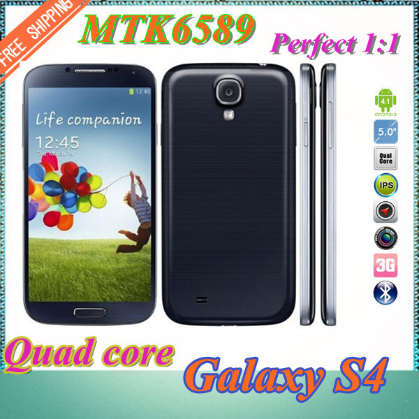 FREE SHIPPING !Real 1:1 I9500 Smart Phone GalaxyS4 phone MTK6589 Quad Core 5.0'' 1280*720 Ips Screen 8MP Camera WIFI GPS(China (Mainland))