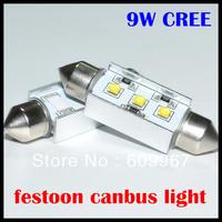 12v led reading light Cree 41MM 9w canbus car bulb canbus cree License Plate Light LED car reading light