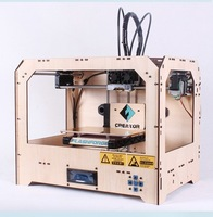 HOT sell!  3D Dual Extruder Printer single, ABS/PLA printmachine,2 Nozzle can print 2 color at the same time