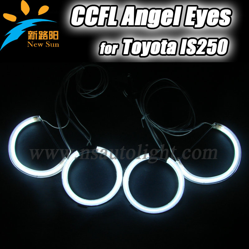CCFL Angel eyes halo rings for Toyota IS250 2006, Super quality automotive parts for ccfl lighting system , angel eyes ccfl(China (Mainland))