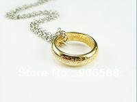 Free shipping 5mm 18K Gold Plated  Whole Sale Price Tthe Lord Of The rings Unisex ring Free Chain  R37 Full Sizes 6-12.5