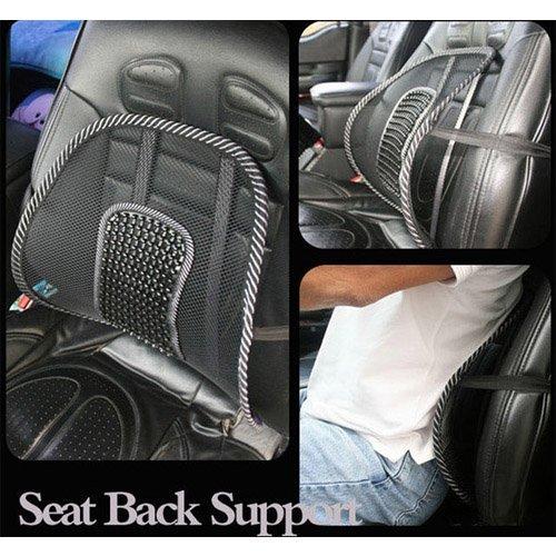 Free shipping New Car Seat Chair Massage Back Lumbar Support Mesh Ventilate Cushion Pad Black(China (Mainland))