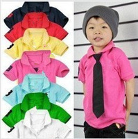 In stock Short sleeves Children's recreational coat New design fashion boys t shirt Children's Clothing t shirt s 2013 HOT