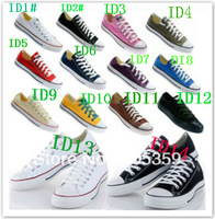 Free shipping 8 Color Spring Summer Autumn Unisex style Laced Up Casual Sneaker canvas shoes classic lovers canvas shoes