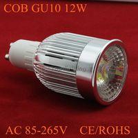 6xFree shipping High power  led lighting systems GU10 dimmable led light 12w AC85-265V  led Spotlight dimension 50*98mm-COB-018