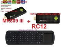 [ Free  RC12 air fly mouse ] stick  Anroid 4.2 Quad Core RK3188  Bluetooth Wifi TV Box  XBMC RAM 2G ROM 8GB tv dongle MK809 III