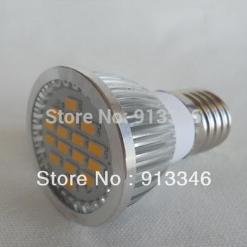 DHL Shipping 100PCs E27 6W led 220V 580 Lumen Spot Light E27 5630 LED Bulb lamp E27 5630 Corn Bulb spotlight