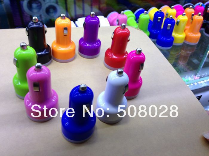 500pcs/lot, 2.1A + 1A Dual USB Car Charger for iPad iPhone 5 4G 3GS Cell Phone / PDA / Mp3 / Mp4,dhl free shipping(China (Mainland))