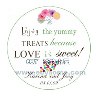 50PCS/LOT 3.8CM Diameter Personalized Wedding Birthday Candy/Cake Wrappers Seal Label Sticker Favor Box/Bag Tags/Label SeriesIII