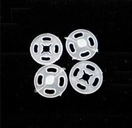 White transparent 7mm-25mm invisible button plastic popper snap button snaps button clothes accessories(China (Mainland))
