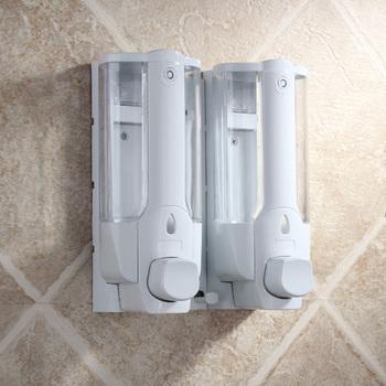 Soap dispenser double slider wall soap bottle hand sanitizer soap box home